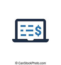 Online Financial Statement Icon