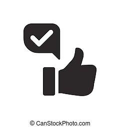 Beautiful, Meticulously Designed Positive Feedback Icon