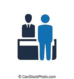 Receptionist, Support Desk Icon - Beautiful, Meticulously...