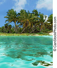 island - beautiful mexican island and water reflections