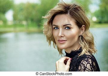 beautiful middle aged woman - Beautiful middle aged woman...