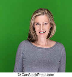Beautiful middle-aged woman with a lovely smile