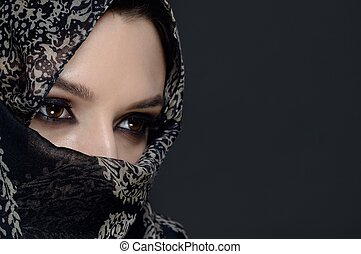 Beautiful  Middle eastern woman in niqab