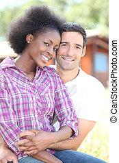 beautiful mixed couple