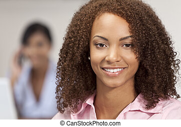 Beautiful Mixed Race African American Girl With Perfect Smile