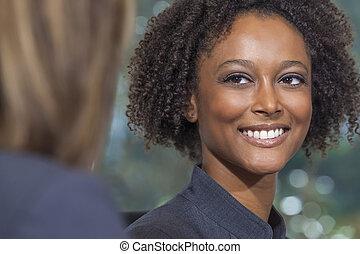 Beautiful Mixed Race African American Woman Businesswoman