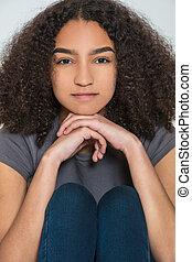 Beautiful Mixed Race Interracial Teenager Girl Young Woman