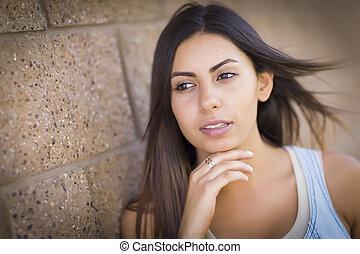 Beautiful Mixed Race Young Woman