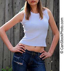 Beautiful model posing