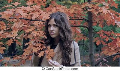 Beautiful model posing for photos