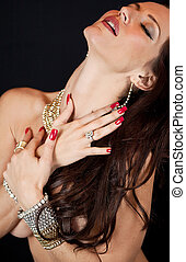 Beautiful Model wearing Jewelry