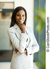 modern african businesswoman in office