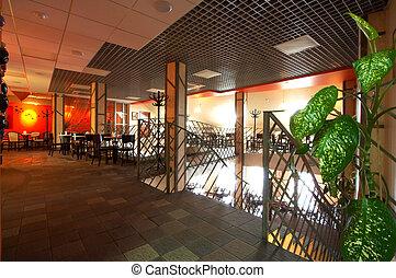 beautiful modern cafe