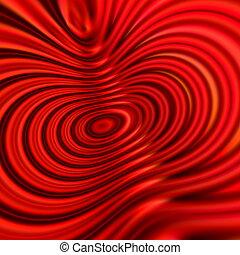 Beautiful modern red swirl image.