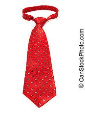 beautiful modern red tie