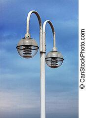 beautiful modern street lamp