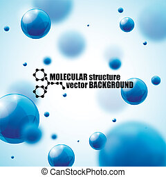 beautiful molecule background
