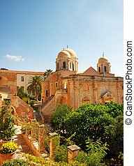 Beautiful monastery of agia triada