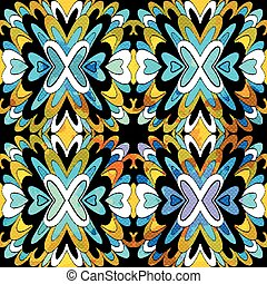 beautiful monochrome tribal antique seamless pattern