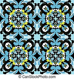 beautiful monochrome tribal antique seamless pattern vector illustration