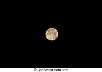 beautiful moon at night sky