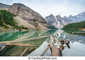 Beautiful Moraine Lake, Banff National Park, Alberta, Canada