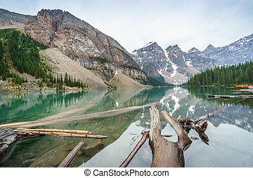 Beautiful Moraine Lake, Banff National Park, Alberta, Canada
