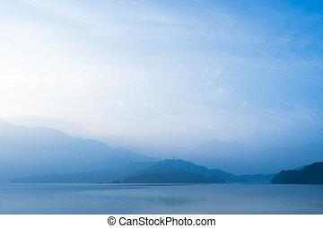 Beautiful morning at Sun Moon Lake