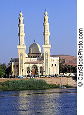 Beautiful Mosque to the Nile in African country Egypt