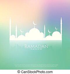 beautiful mosque on beautiful background