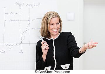 Beautiful motivated businesswoman - Beautiful motivated...