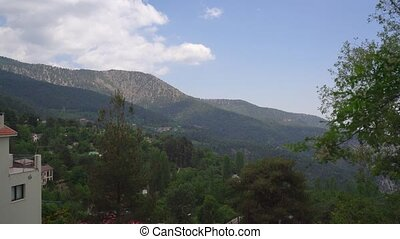 Beautiful mountain and forest landscape on Cyprus