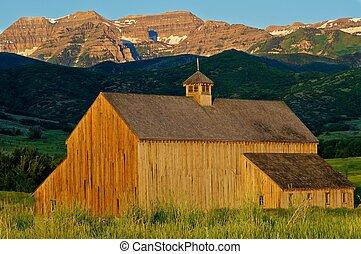 Beautiful mountain barn