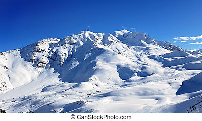 mountain in snow