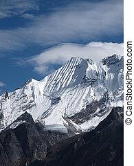 Beautiful mountain in the region of Langtang, Nepal