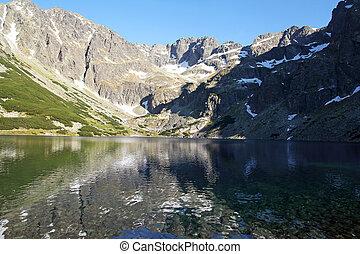 beautiful mountain lake in Tatra Mountains, Poland