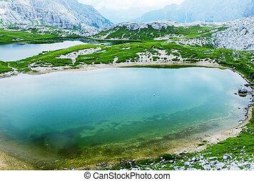 Beautiful mountain lake with reflections