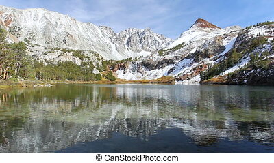 Mountain Lake - Beautiful Mountain Lake with Snow Peak in...