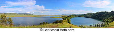 Beautiful mountain lakes in Khakassia - awesome wide angle ...