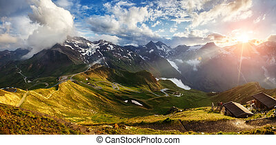 beautiful mountain landscape - A great view of the green...