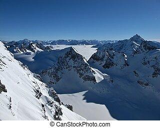 Beautiful mountain landscape in the winter