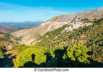 Beautiful mountain landscape of Sierra de las Nieves, Andalusia, Spain