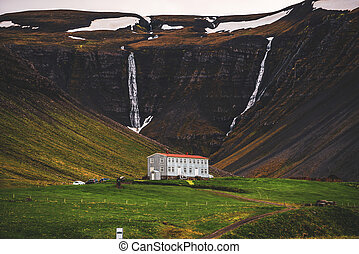 Beautiful mountain landscape of West Iceland.