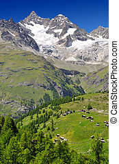 Swiss alps - Beautiful mountain Ober Gabelhorn - Swiss alps