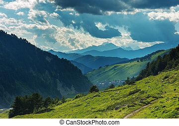 mountain - beautiful mountain on summer time