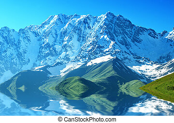 mountain - beautiful mountain on summer time