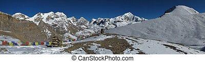 Beautiful mountain range in Nepal