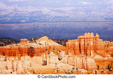 Beautiful mountain scene of Bryce Canyon, Utah