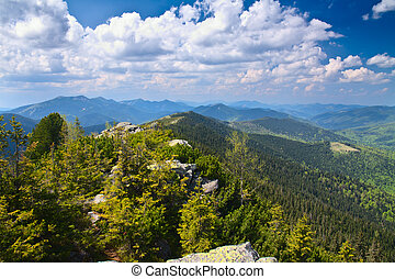 Beautiful mountain scenery. Carpathian Mountains.