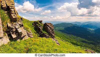 beautiful mountain scenery in summer. gorgeous view from...